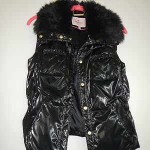 Juicy Couture black quilted vest